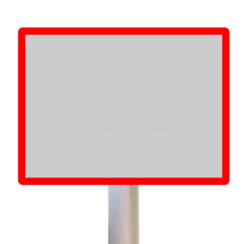 Lege verkeersteken royalty-vrije illustratie