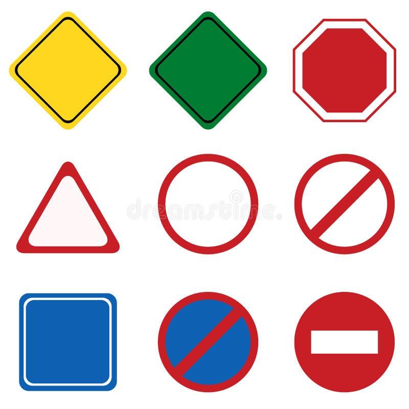 Lege Verkeersteken vector illustratie