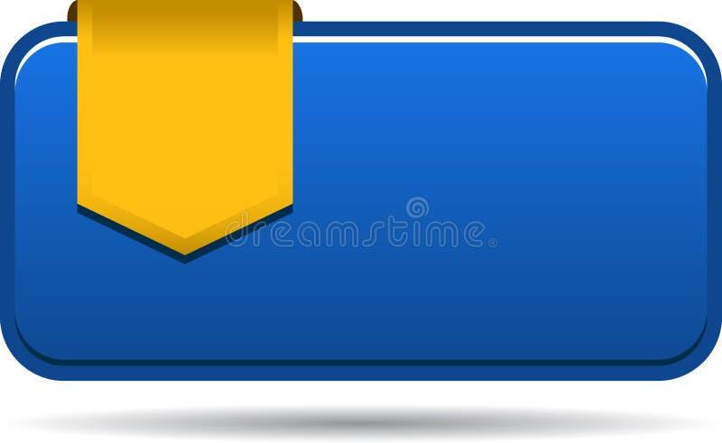 Lege verkoopmarkering met lint stock illustratie