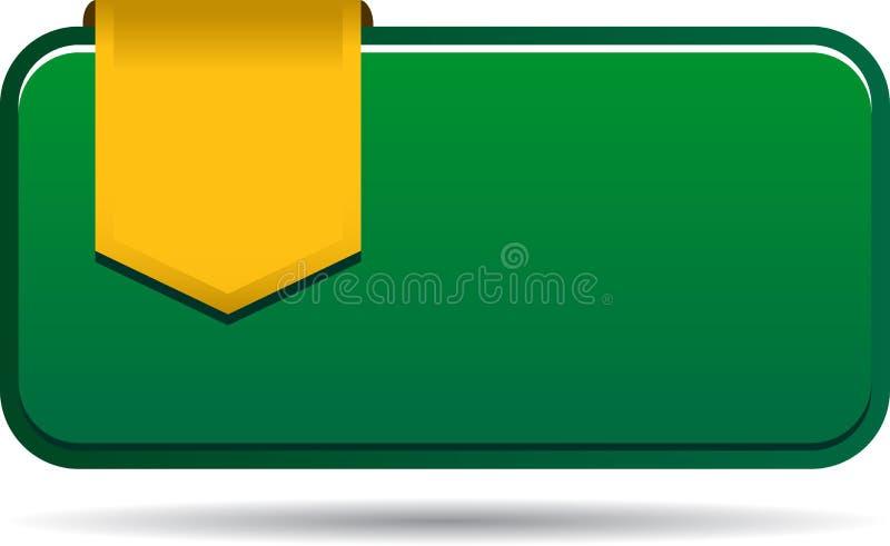 Lege verkoopmarkering met lint royalty-vrije illustratie