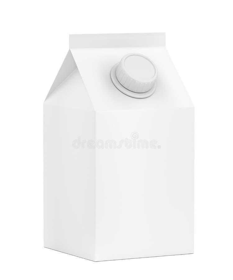 Lege verpakking voor melk stock illustratie
