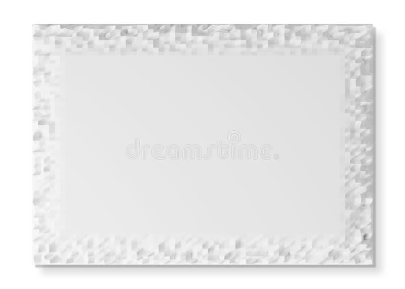 Lege A4 verpletterde document textuur bij het witte 3D teruggeven vector illustratie