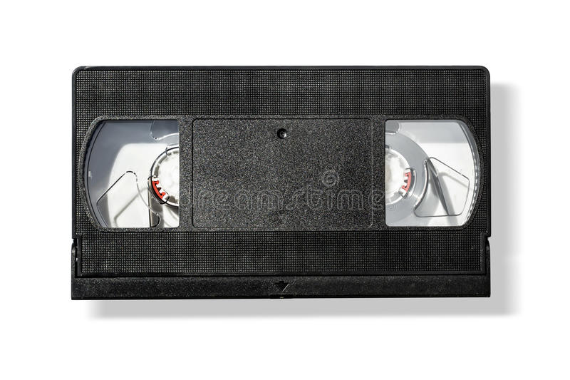 Lege vhs videocassetteband royalty-vrije stock foto's