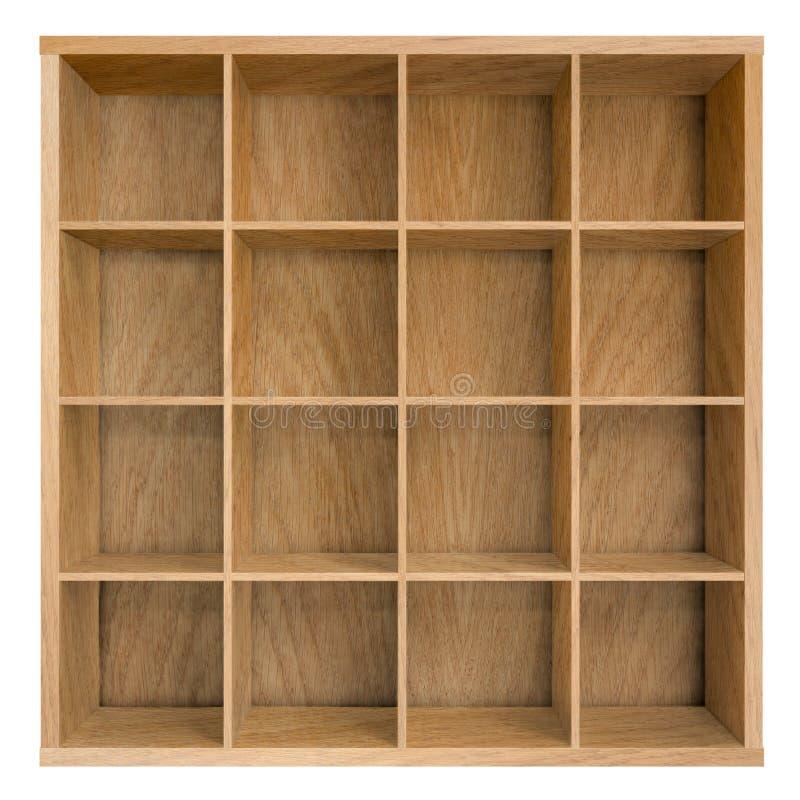 Lege vierkante boekenrek of boekenkast 3d illustratie royalty-vrije stock foto's