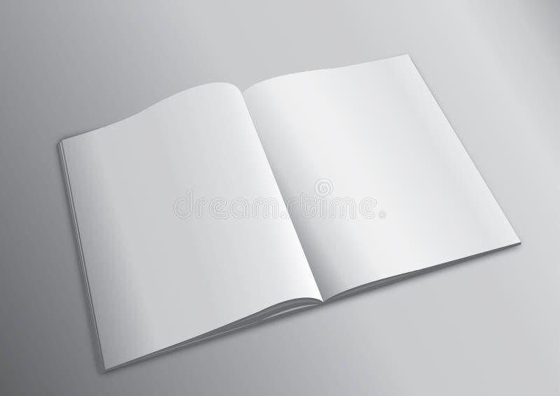 Lege Vliegende Dekking van Tijdschrift of Boek stock illustratie