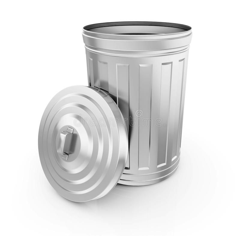 Lege vuilnisbak stock illustratie