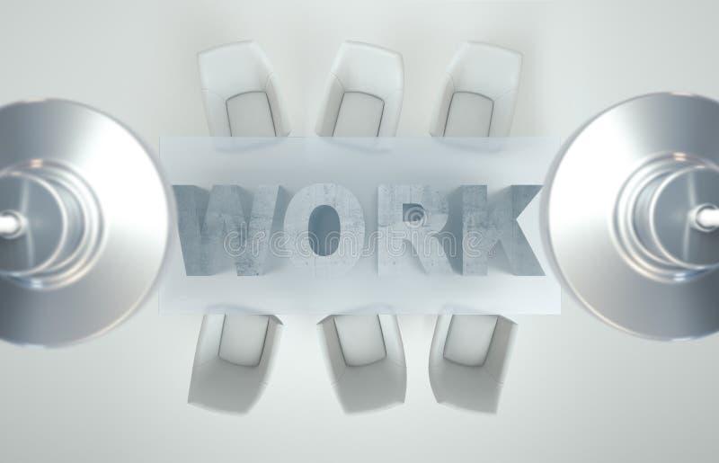 Lege werkruimte op witte het WERKlijst Hoogste mening De hoge resolutie geeft terug Bedrijfs concept stock afbeeldingen