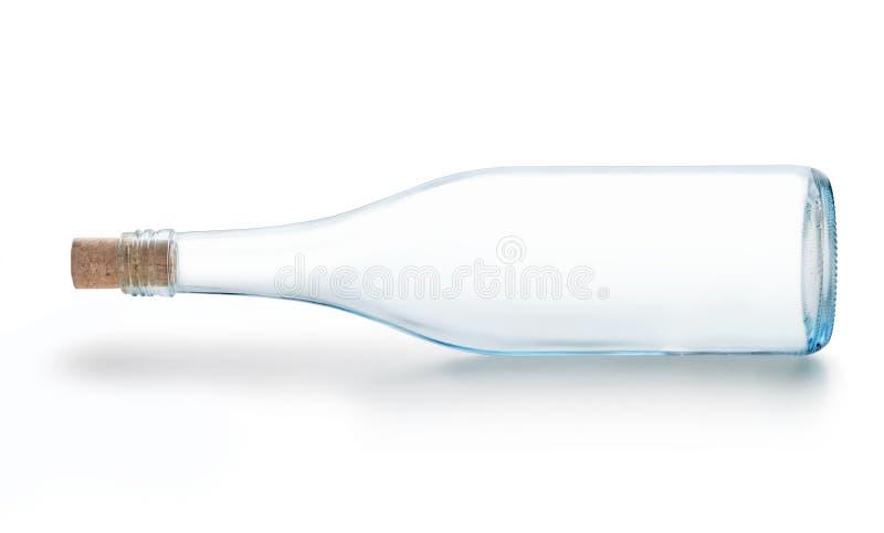 Lege wijnfles stock foto's