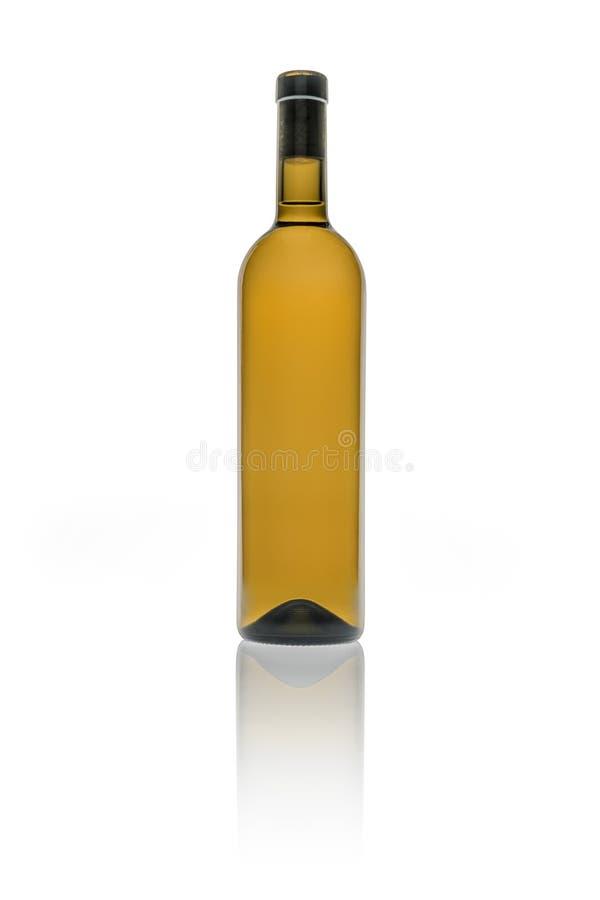 Lege wijnfles stock afbeelding