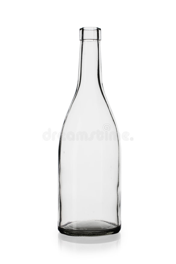 Lege wijnfles royalty-vrije stock afbeelding