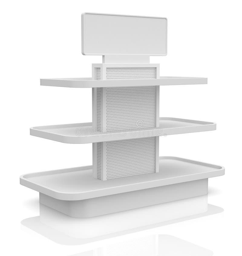 Lege winkelplank vector illustratie
