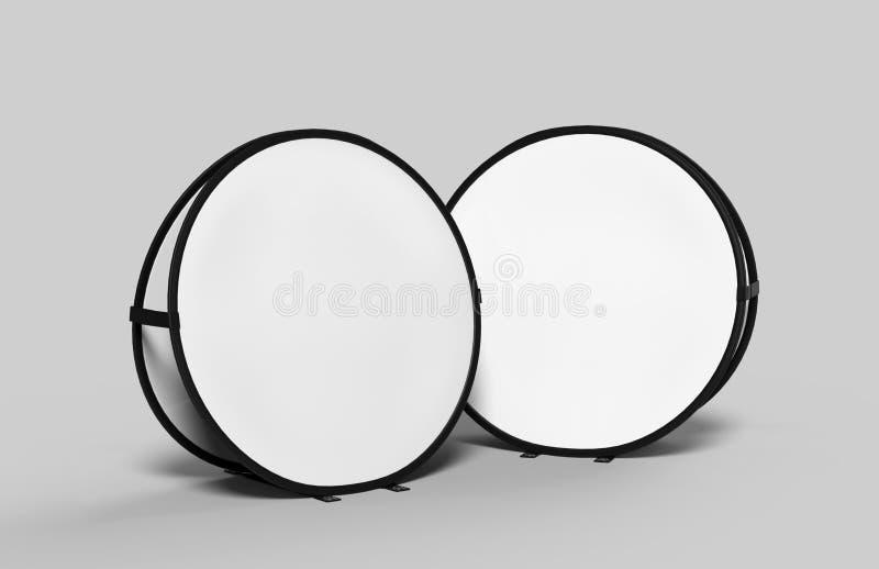 Lege wit knalt omhoog reclame de kaderbanners voor het openlucht sportieve vertoningsgebeurtenis brandmerken ideaal zijn Draagbaa vector illustratie