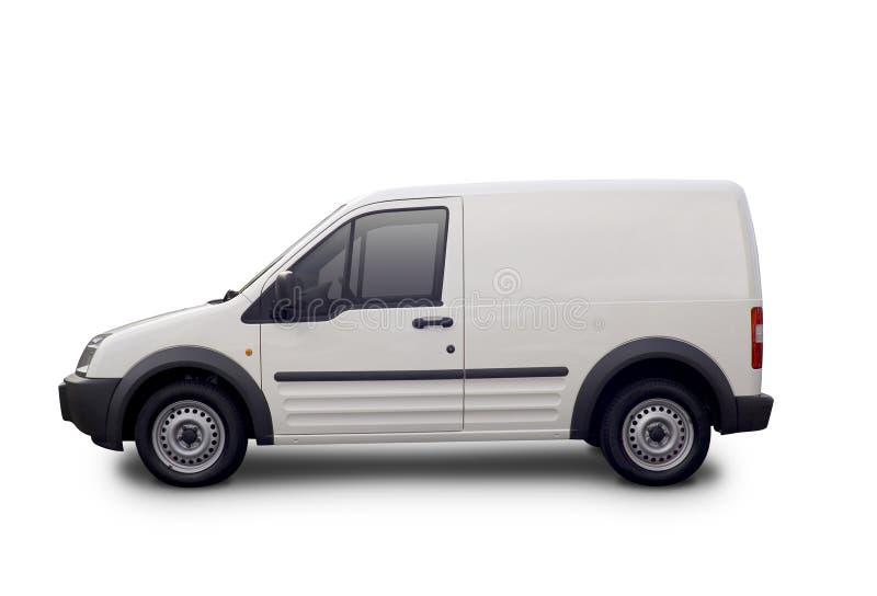 Lege witte bestelwagen royalty-vrije stock fotografie