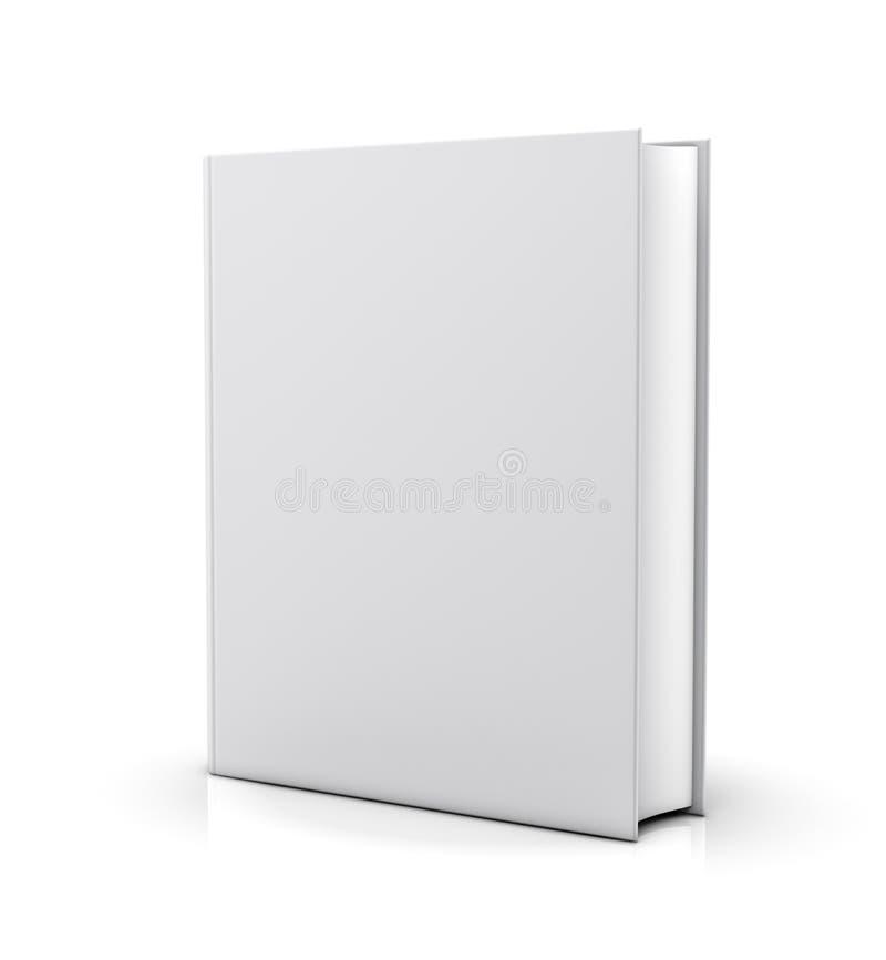 Lege witte boekdekking royalty-vrije illustratie