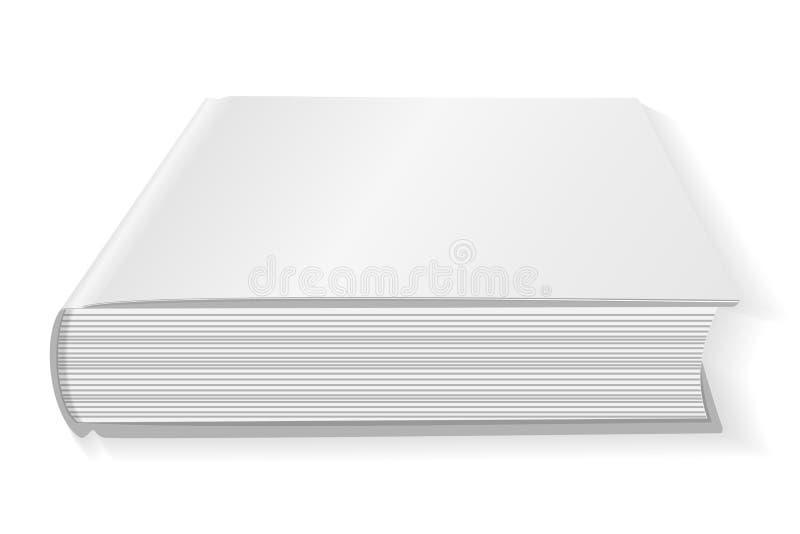 Lege witte boekdekking Geïsoleerdj op witte achtergrond Model om uw ontwerp te tonen Vector vector illustratie