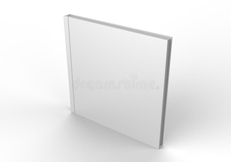 Lege witte catalogus, tijdschriften, boek voor spot op ontwerppresentatie 3d geef illustratie terug royalty-vrije illustratie
