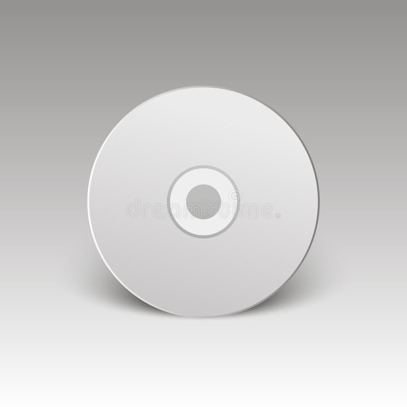 Lege witte CD Spot omhoog CD schijf Vector illustratie royalty-vrije illustratie