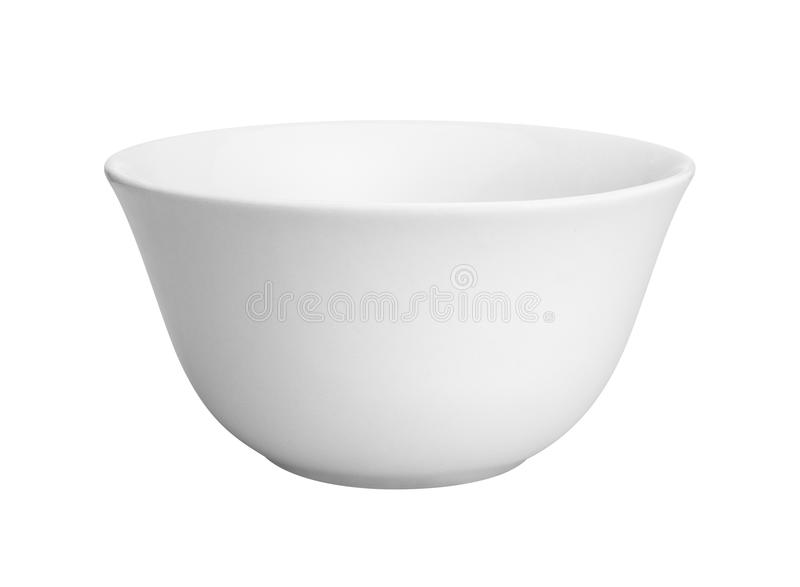 Lege witte ceramische kom stock afbeelding