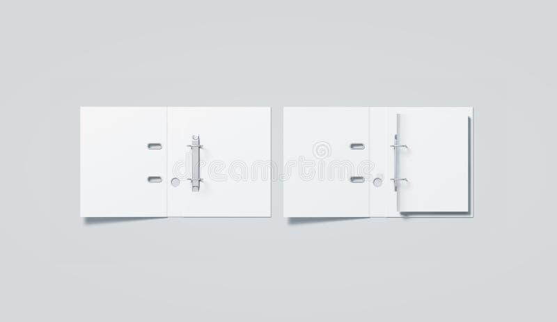 Lege witte de omslagspot van het ringsbindmiddel op hoogste mening royalty-vrije stock afbeelding