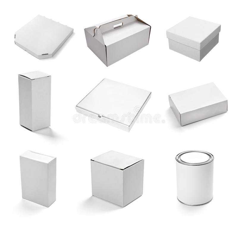 Lege witte doos stock illustratie