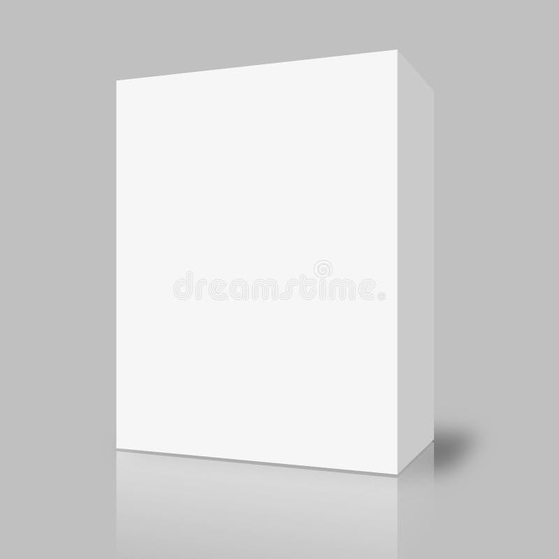 Lege witte doos op grijs stock illustratie