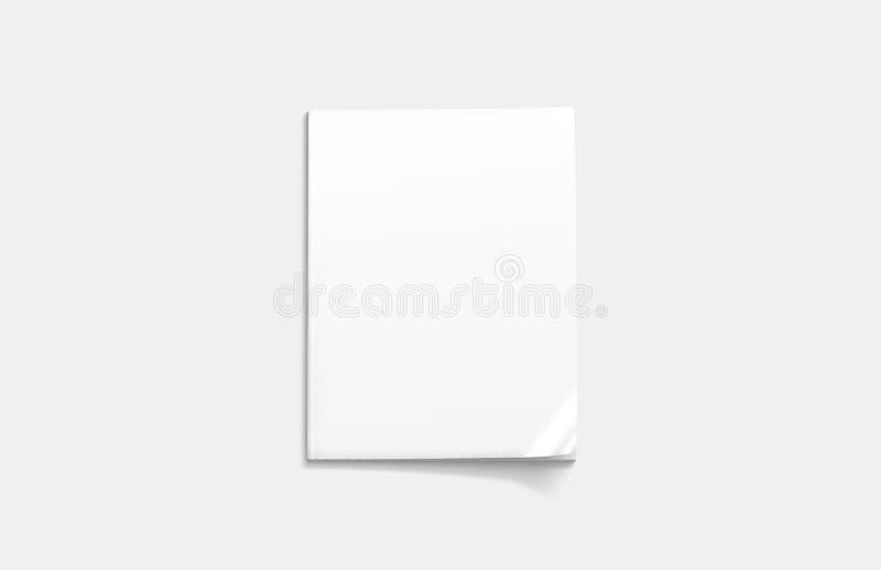 Lege witte gesloten tijdschriftspot omhoog, hoogste mening, het 3d teruggeven vector illustratie