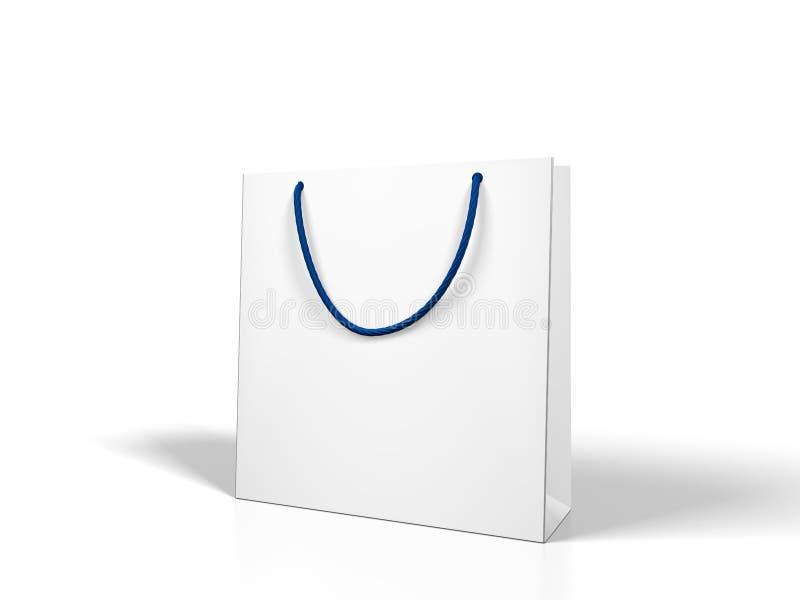 Lege witte het winkelen zak royalty-vrije illustratie