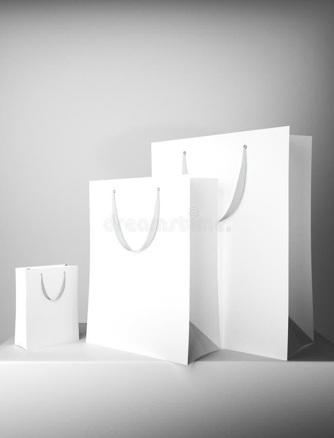 Lege witte het winkelen zakken vector illustratie