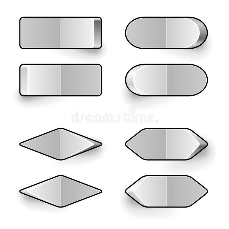 Lege witte knevelschakelaar vector illustratie