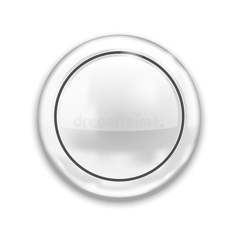 Lege Witte Knoop stock illustratie