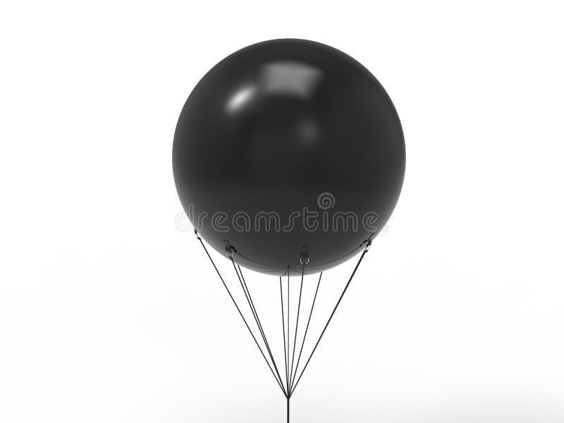 Lege witte promotie openlucht het heliumballon die van pvc van de reclamehemel reuze opblaasbare in hemel voor spot omhoog en mal stock illustratie
