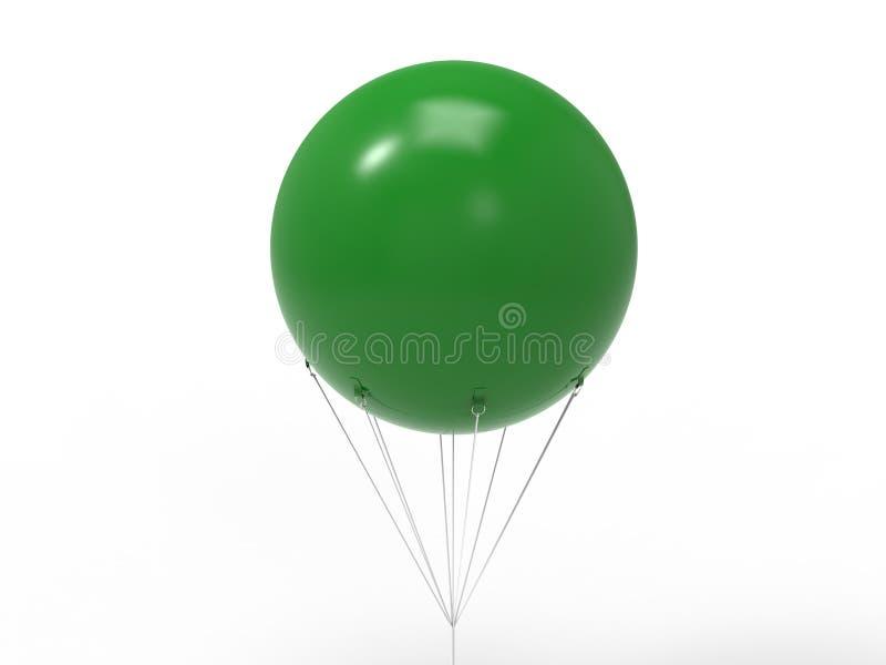 Lege witte promotie openlucht het heliumballon die van pvc van de reclamehemel reuze opblaasbare in hemel voor spot omhoog en mal royalty-vrije illustratie
