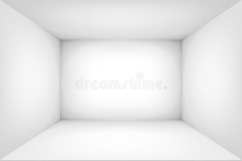 Lege witte ruimte De binnenruimte van de doos vectorontwerpillustratie Spot omhoog voor u bedrijfsproject vector illustratie