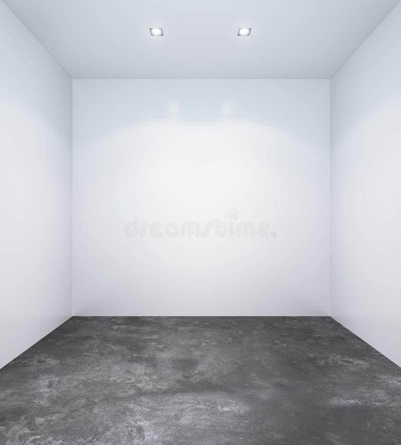 Lege witte ruimte met witte muren stock illustratie
