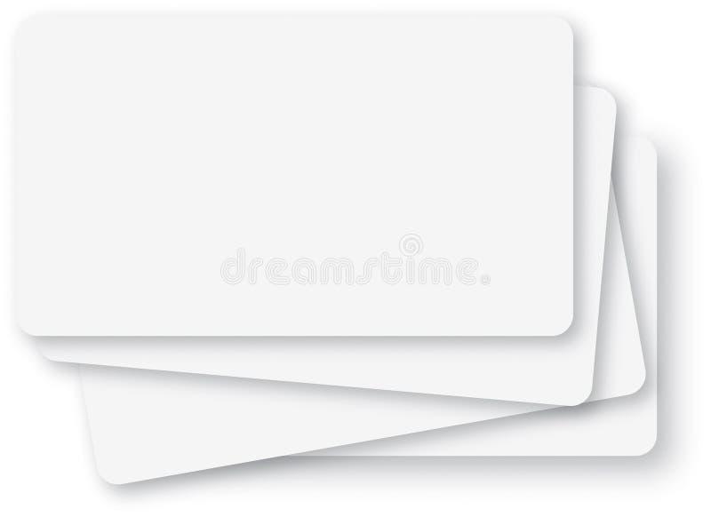 Lege witte systeemkaarten stock illustratie