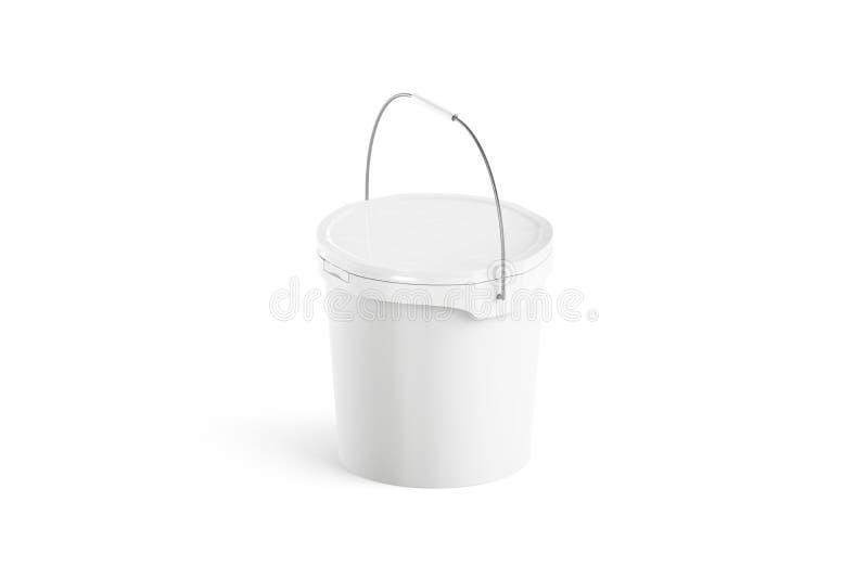 Lege witte verfemmer met geïsoleerd handvatmodel, royalty-vrije illustratie