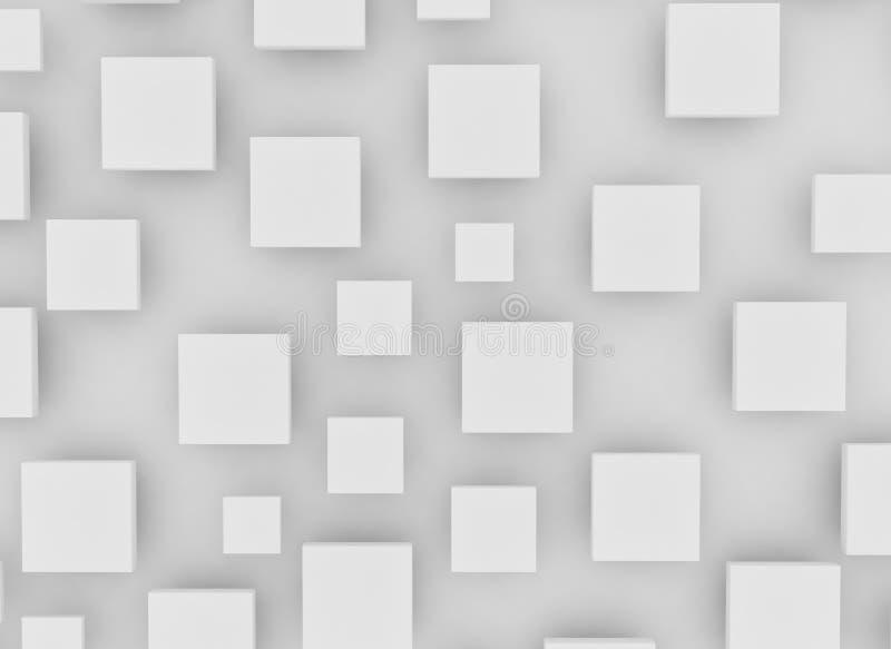 Lege witte vierkanten en schaduw vector illustratie
