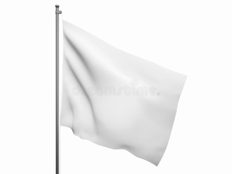 Lege witte vlag royalty-vrije illustratie
