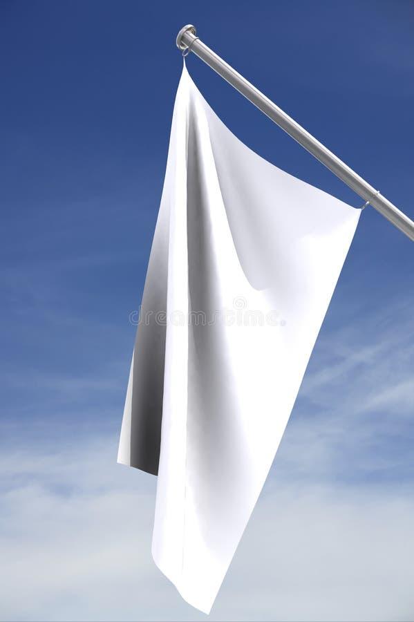 Lege witte vlag op pool stock illustratie