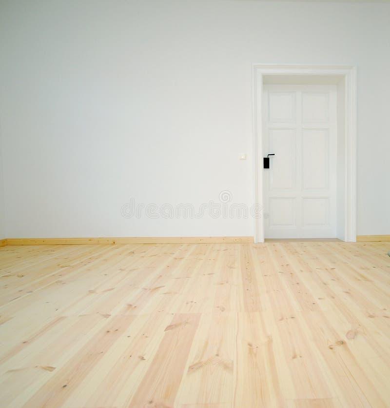 Lege Witte Zaal met Deur royalty-vrije stock foto