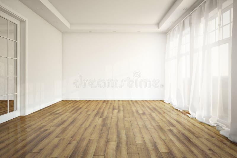 Lege woonkamer stock illustratie. Afbeelding bestaande uit ...