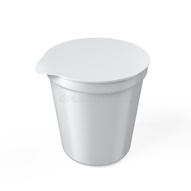 Lege yoghurtkop vector illustratie