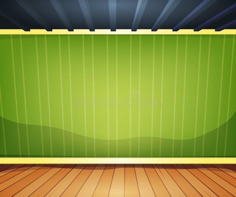 Lege Zaal met Gestreept Behang vector illustratie