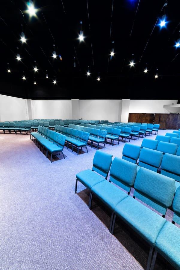 Lege Zetels in een Auditoriumverticaal stock fotografie