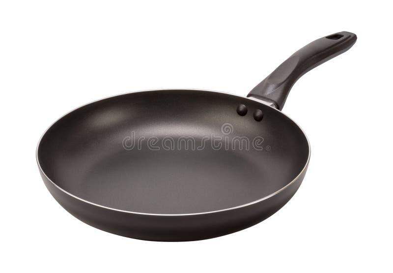 Lege Zwarte Pan (het knippen weg) royalty-vrije stock afbeeldingen