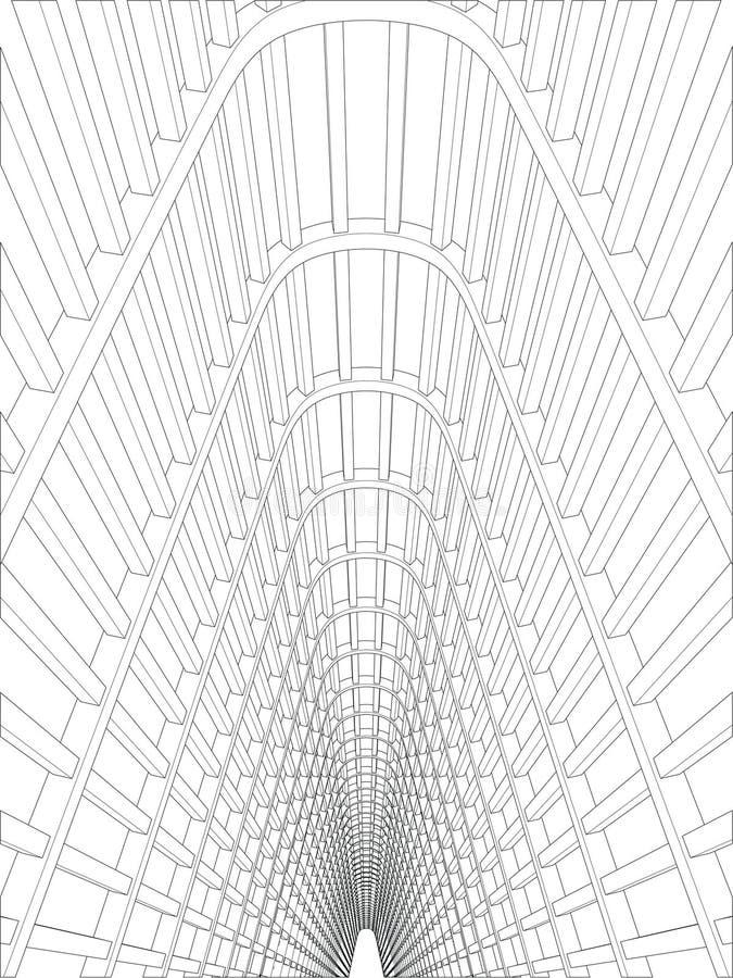 Legen Sie Vektor einen Tunnel an lizenzfreie abbildung