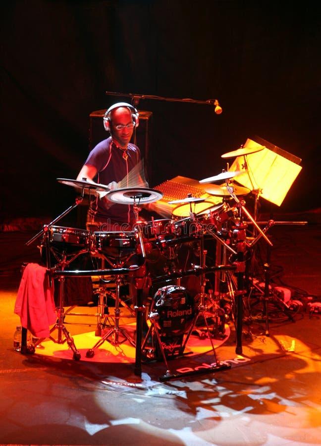Schlagzeugerkünstler Omar Hakim stockbilder