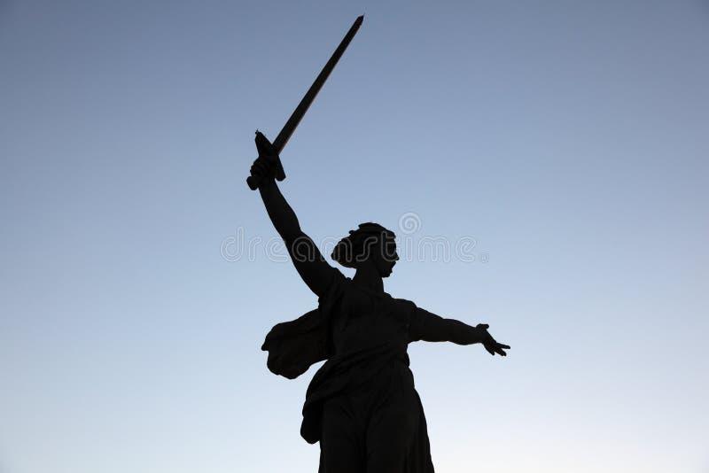 Legendäre Statue der Mutter Russland, Wolgagrad. stockfotografie