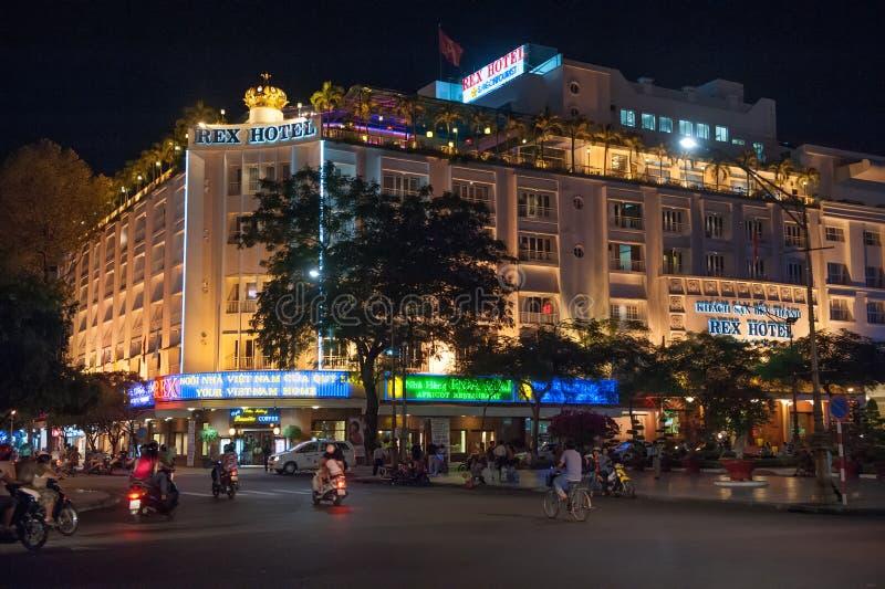 Legendärer Rex Hotel, Saigon stockfotos
