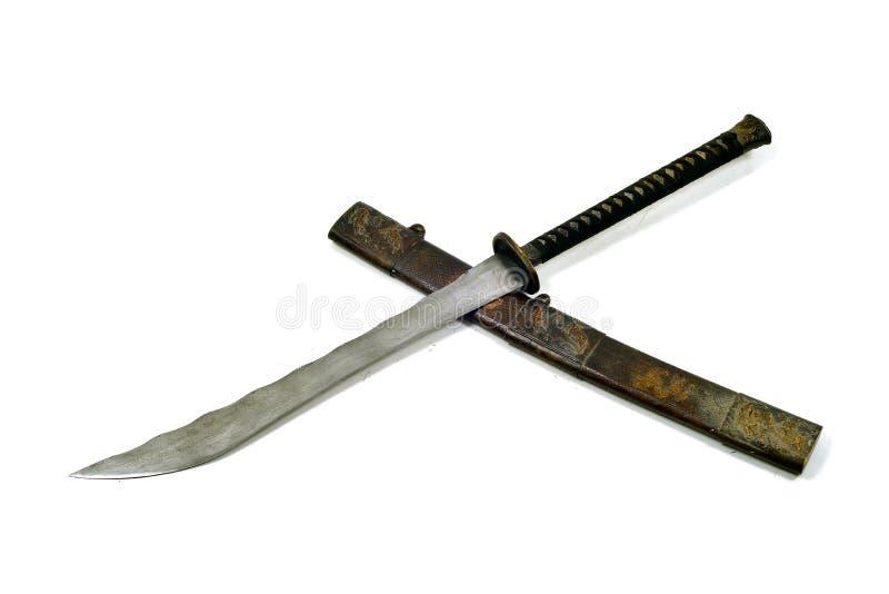 Legend av det forntida samurajtusen dollarsvärdet arkivfoton
